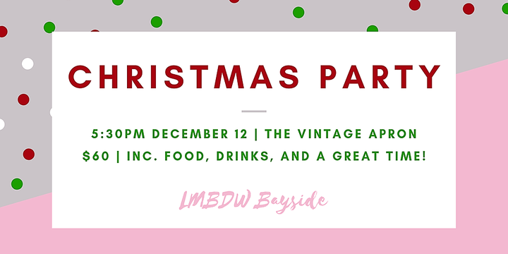 LMBDW Bayside - Christmas Dinner Party Event Banner