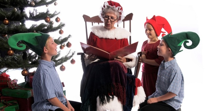 Meet Mrs.Claus for story time Event Banner