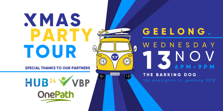XMAS PARTY Tour Geelong - 13th November Event Banner
