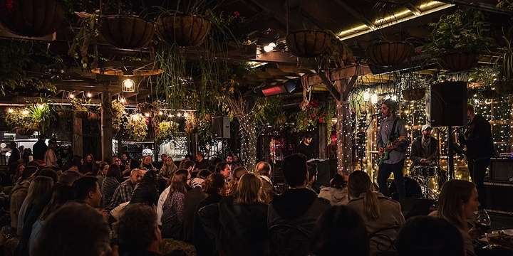 Blues and Mulled Wine Night | The Grounds Garden Event Banner