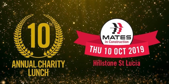 MATES 10th Annual Charity Lunch 2019 - Major Sponsor: CSQ Event Banner