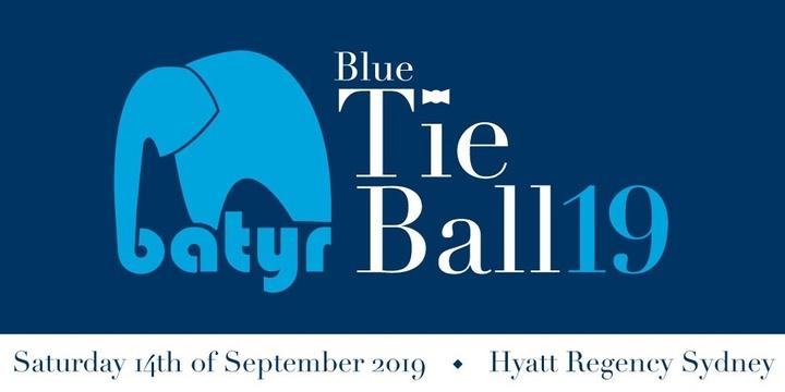batyr Blue Tie Ball | 2019 Event Banner
