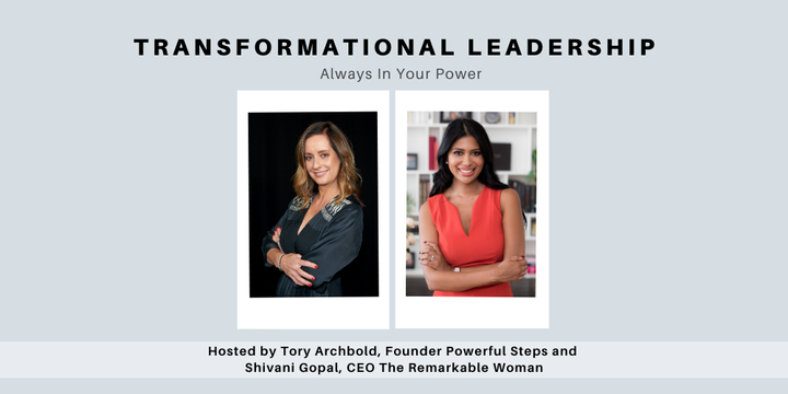 Transformational Leadership - Always In Your Power Event Banner