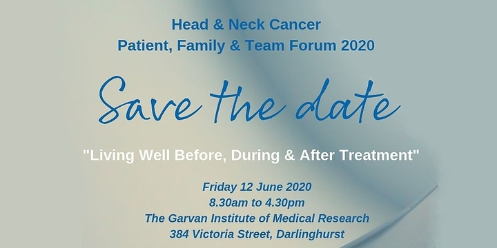Head & Neck Cancer Patient, Family & Team Forum 2020 Event Banner