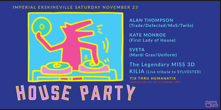 House Masters HOUSE PARTY Event Banner