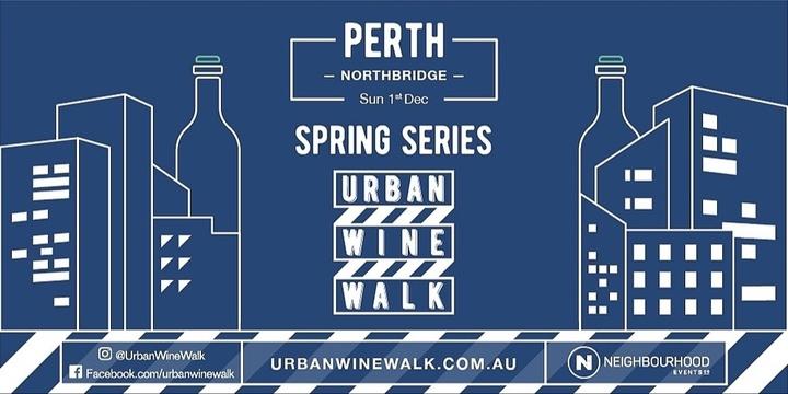 Urban Wine Walk Perth Northbridge (Sunday) Event Banner
