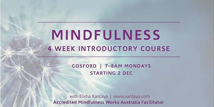 Introduction to Mindfulness – 4 Week Course Event Banner