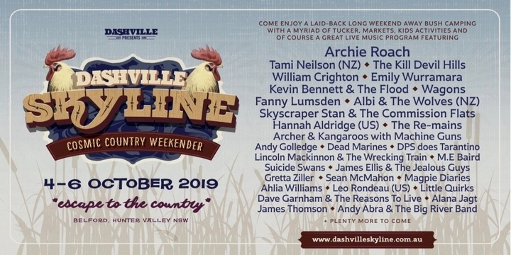 Dashville Skyline - Cosmic Country Weekender 2019 Event Banner