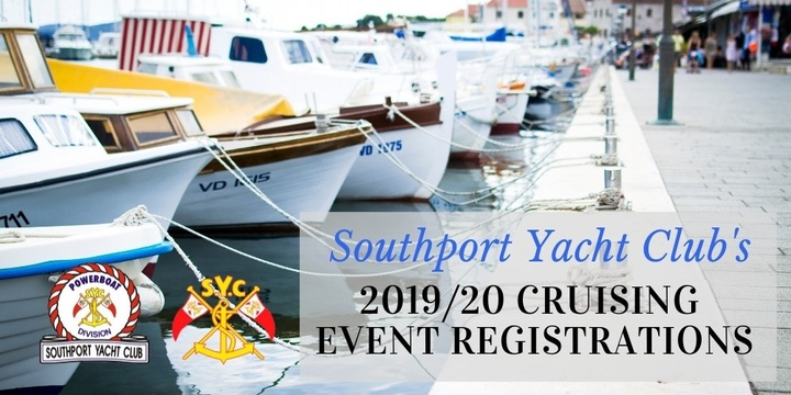 Southport Yacht Club - Cruise Registration Event Banner