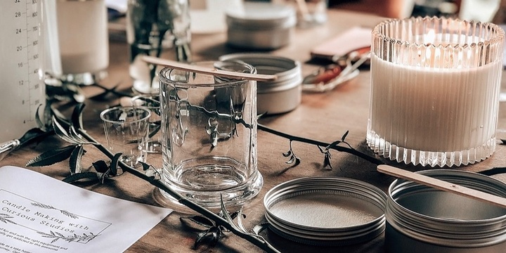 Soy Candle Making with Curious Studios Event Banner