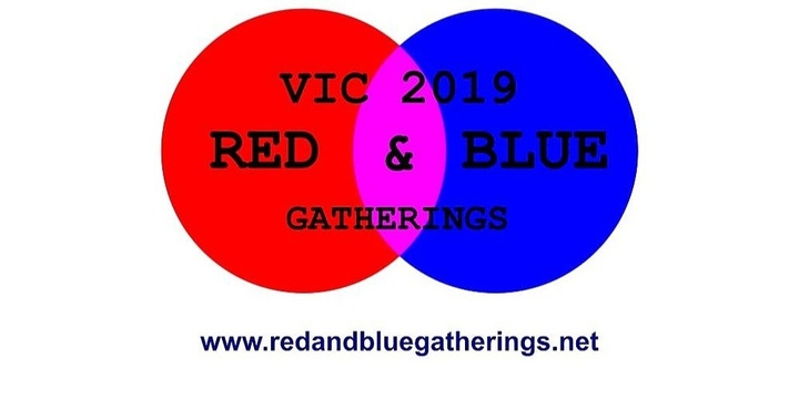 RED AND BLUE GATHERING VICTORIA 2019 Event Banner