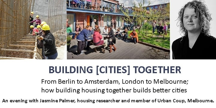 Building [Cities] Together - An Evening with Jasmine Palmer Event Banner