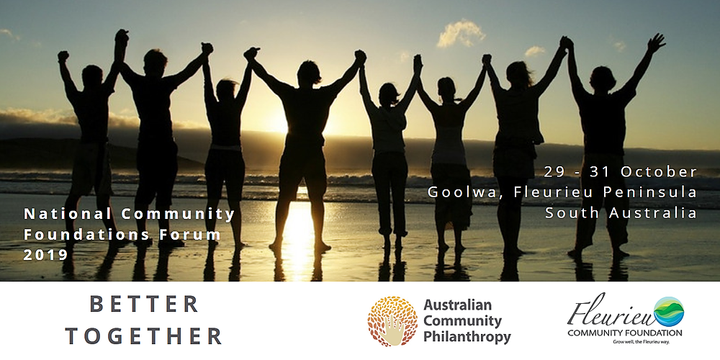Better Together 2019: National Community Foundations Forum Event Banner