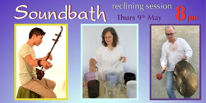 Soundbath at 8pm (reclining session) Event Banner