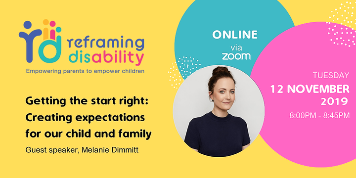 WEBINAR - Getting the start right: Creating expectations for our child and family Event Banner