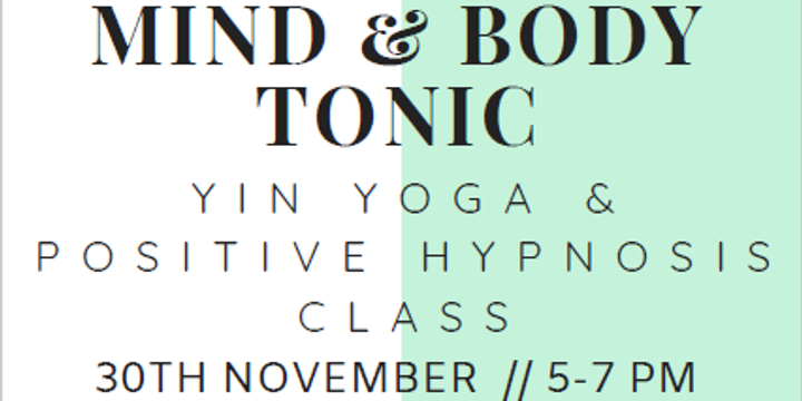 Mind & Body Tonic Event Banner