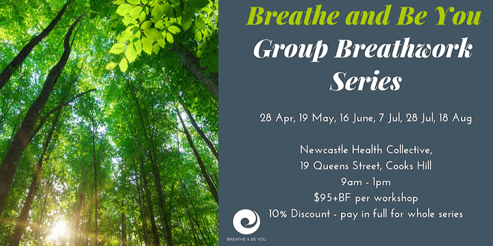 Breathe ad Be You - Group Breathwork Series Event Banner