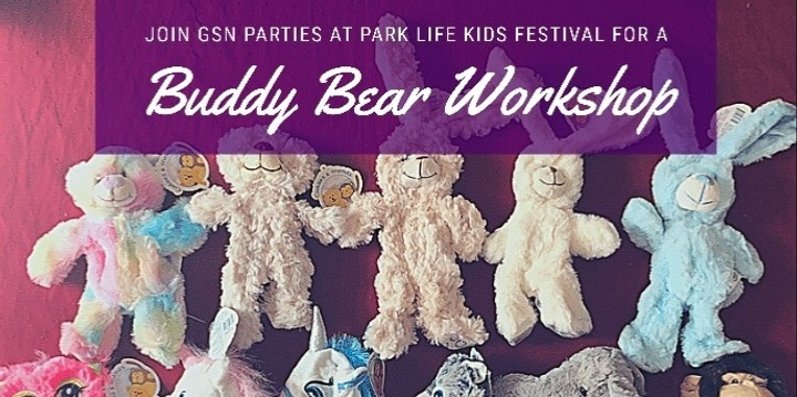 Buddy Bear Workshop - Parklife Kids Festival Event Banner