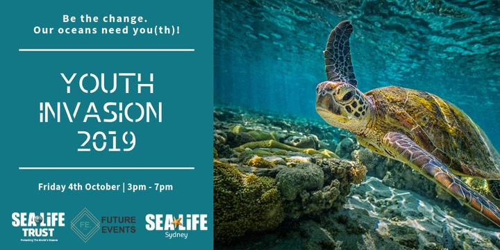 Youth Invasion 2019 @ SEA LIFE Sydney Aquarium Event Banner