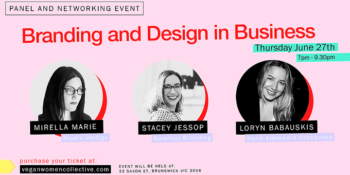 Branding & Design Panel and Networking session Event Banner