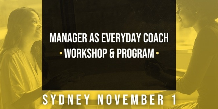 Sydney - Manager as Everyday Coach Event Banner