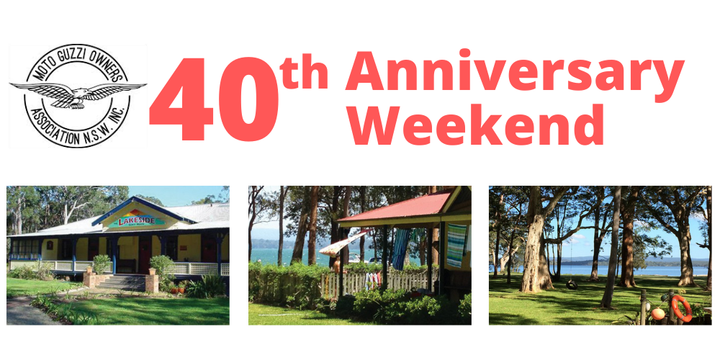 Moto Guzzi Owners Association (NSW) 40th Anniversary Weekend Event Banner
