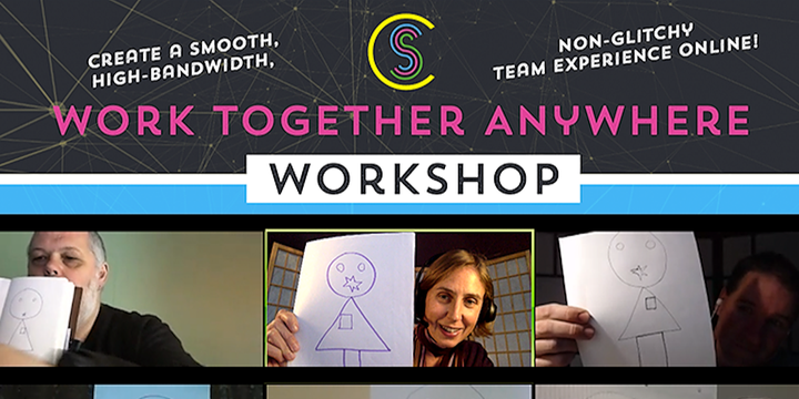 Work Together Anywhere Workshop (fully online) 4th June Event Banner