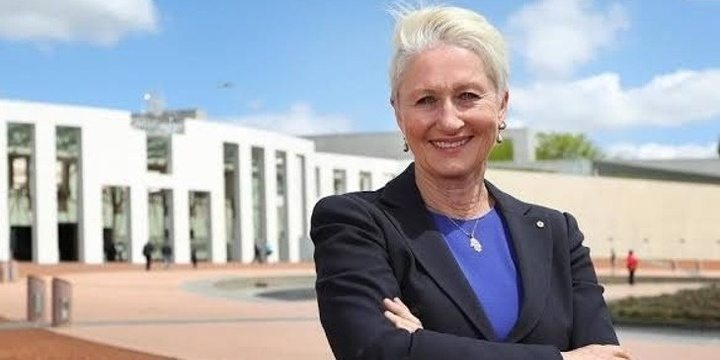 Women for Election Australia presents: In conversation with Kerryn Phelps MP, hosted by Georgie Dent. Event Banner