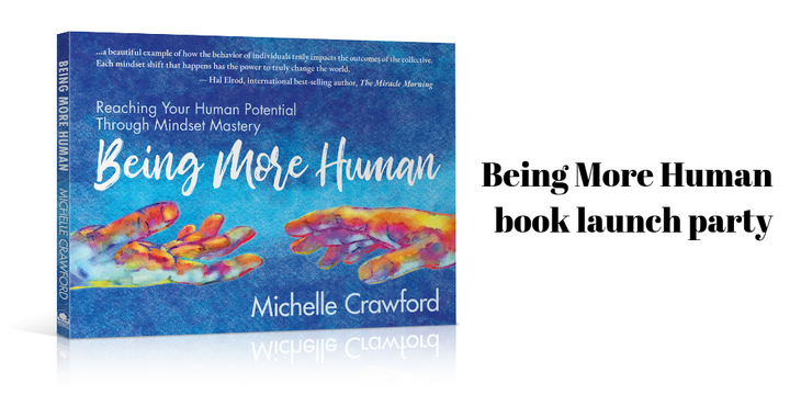 Being More Human book launch party Event Banner