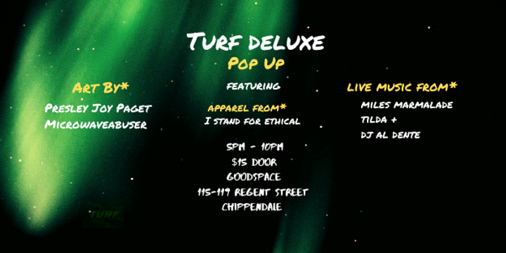 TURF DELUXE Pop Up Event Banner