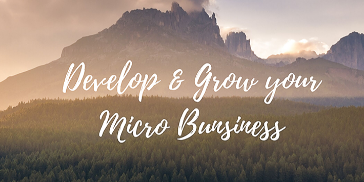 Develop and Grow your Micro Business Event Banner