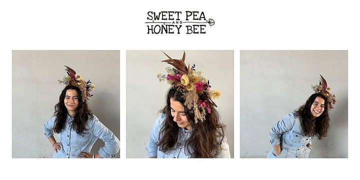 Dried Floral Headpiece Workshop Event Banner