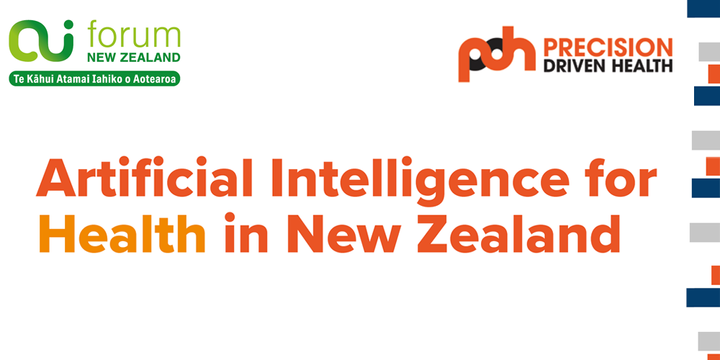 AI in New Zealand Health Report Launch Event Banner