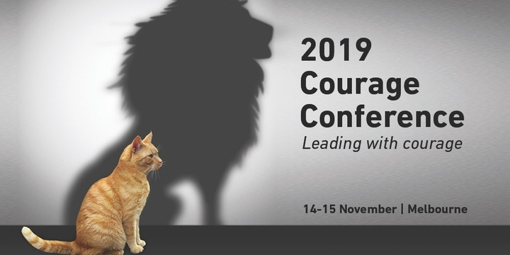 2019 Courage Conference & Masterclass: Leading with Courage Event Banner