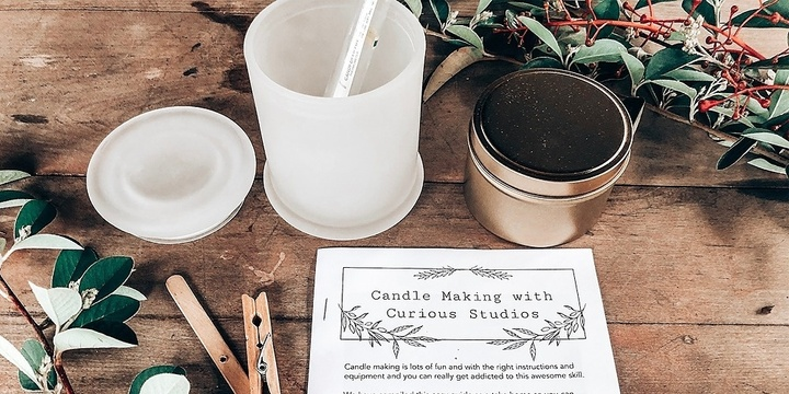 Christmas Candle Making with Curious Studios Event Banner