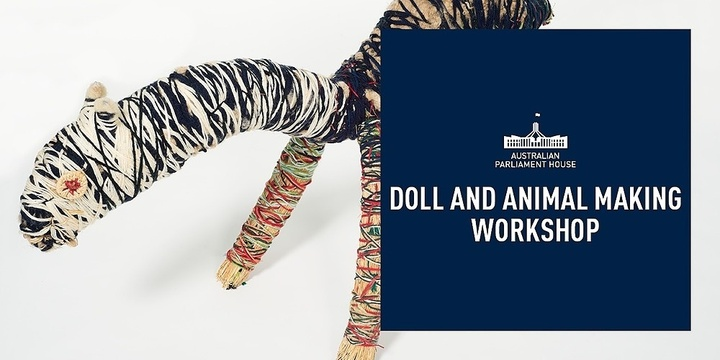 Doll and Animal Making Workshop Event Banner