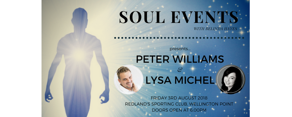 SOUL EVENTS with Peter Williams & Lysa Michel Event Banner