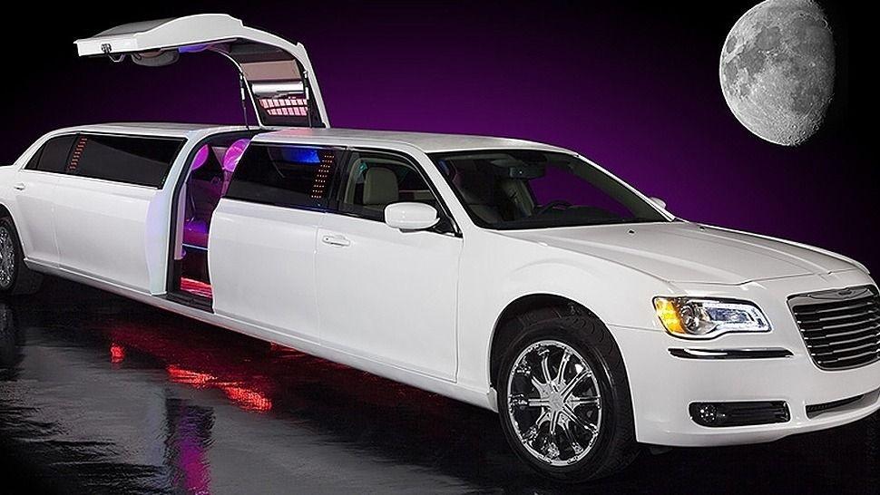 White Chrysler 300C Gullwing Limo