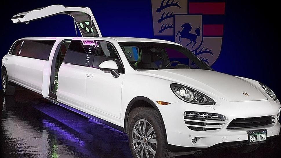 White Porsche Cayenne Limo