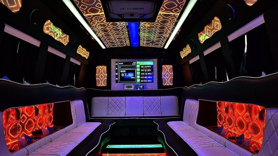 Peak 2 - 19 Passenger Black Party Bus