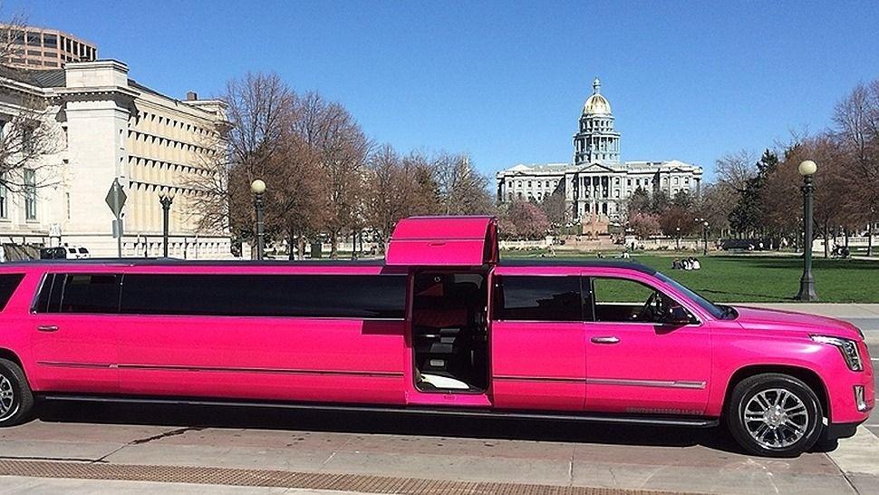Pink Cadillac Escalade Suv Limo