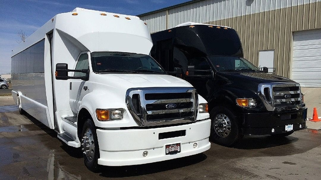 Ford 750 Black Party Bus