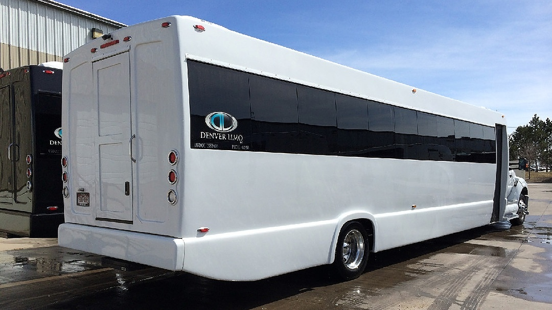 Ford 750 White Party Bus