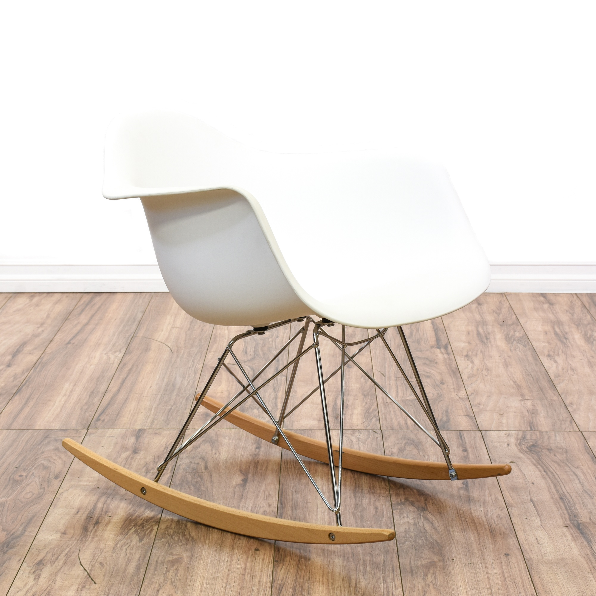 Mid Century Modern Eames Style Rocker Shell Chair