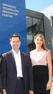 James Brokenshire and Kerrie Patrick, finance manager