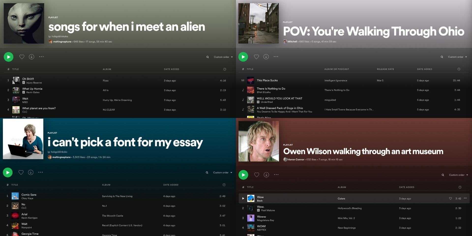 7 weird Spotify playlists you didn't know you needed
