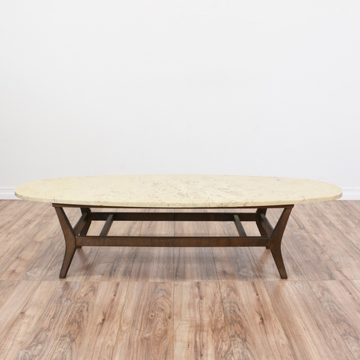 Mid Century Modern Marble Top Coffee Table: Mid Century Modern Marble Top Coffee Table