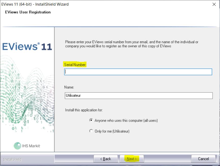 Comment installer EViews 11 et activer ma licence ?