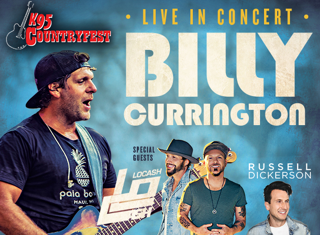 IAH- K95 Countryfest- Billy Currington July 7, 2018, gates 3pm