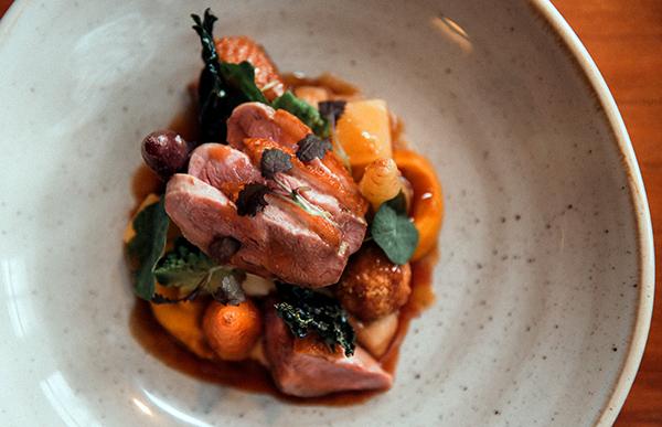 Cornish duck, carrot, turnip, miso